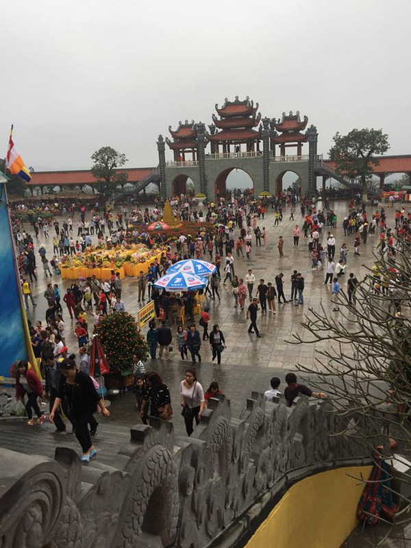 Khung cảnh lễ hội Yên Tử dịp đầu năm