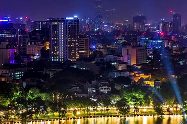Khung cảnh Hà Nội về đêm