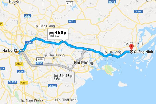 Cách di chuyển từ Hà Nội đi Quảng Ninh