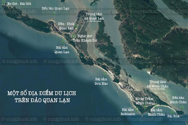 Các điểm du lịch trên đảo Quan Lạn