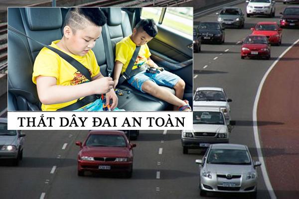 thắt dây an toàn cho mọi người trên xe là điều cần thiết