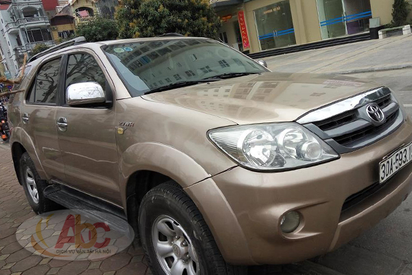 Xe Fortuner 7 chỗ mầu ghi