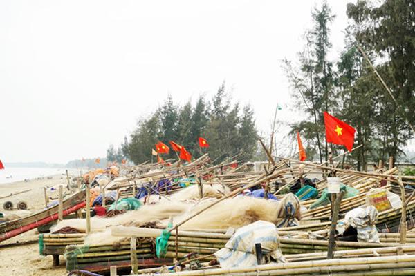 Nét bình dị, hoang sơ của làng quê chài lưới.