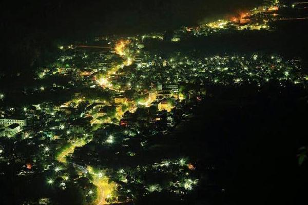 Thung Lũng Mai Châu về đêm tại Mai Châu, Hòa Bình.