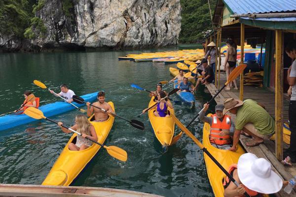 Chèo thuyền kayak & chèo xuồng trên vịnh.
