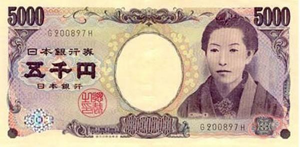 Tờ tiền mệnh giá 5000 yên nhật