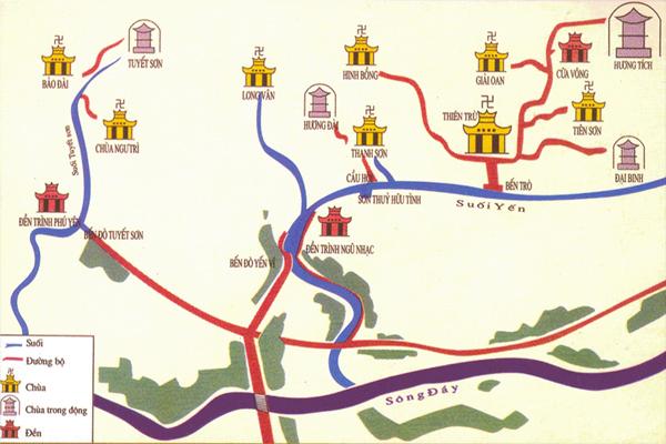 Bản đồ du lịch chùa Hương