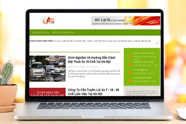 Hướng dẫn cách đặt thuê xe 16 chỗ tại ThuexeAbc.vn