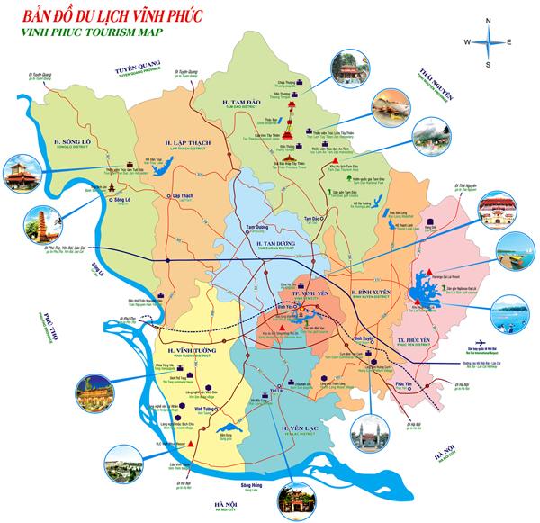 Bản đồ du lịch Vĩnh Phúc
