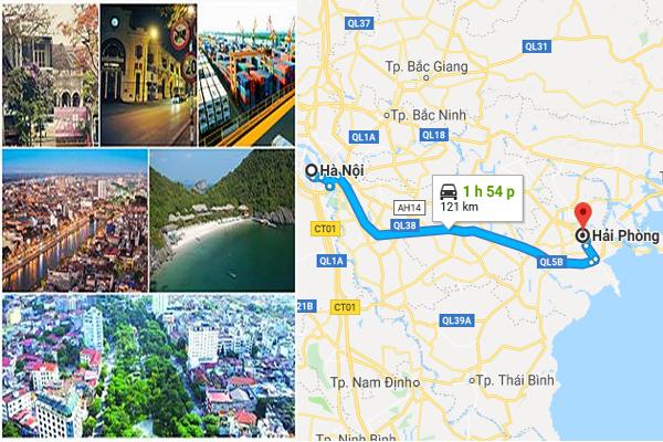 Cách di chuyển từ Hà Nội đi Hải Phòng