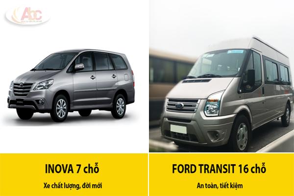 Xe du lịch từ 4 chỗ đến 45 chỗ giá rẻ tại Hà Nội