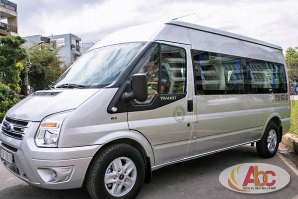 Hình ảnh xe Ford Transit mầu bạc
