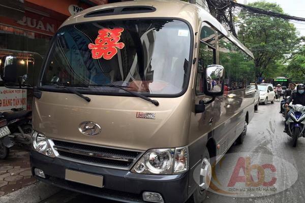 Cho thuê xe 29 chỗ đi Phú Thọ